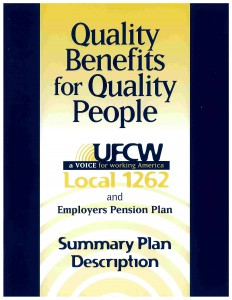 Pension Benefits - UFCW Local 1262
